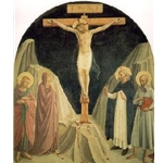 Crucified Christ with Saint John the Evangelist, the Virgin, and Saints Dominic and Jerome, Fra Ange