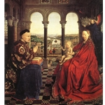 The Virgin of Chancellor Rolin, 1435, Jan Van Eyck