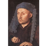Portrait of a Goldsmith Man with Ring c. 1430 Jan Van Eyck
