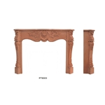 Hand carved wood fireplace-20092241430696828