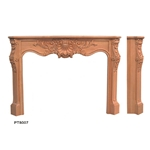 Hand carved wood fireplace-PT8007