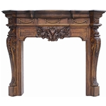 Hand carved wood fireplace-PT8016