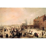 A Scene on the Ice, Hendrik Avercamp