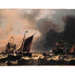 Dutch Men-of-war off Enkhuizen1683 BAKHUIZEN Ludolf 1630 - 1708