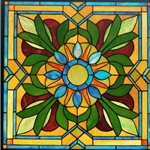 Stained window glass panel LTSP24-24∕06