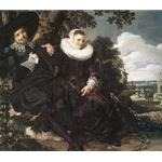 Married Couple in the garden Frans hals 1625-26