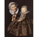 The Infant Catharina Hooft (1618-1691) with her Nurse Frans hals c. 1619-20