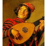 Jester with a Lute, Frans Hals, c. 1620-25