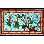 Stained window glass panel LTSP20-34∕17