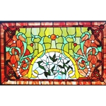 Stained window glass panel LTSP20-34∕27