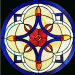 Stained window glass panel LTSP20D∕85