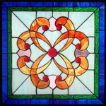 Stained window glass panel LTSP20-20∕94