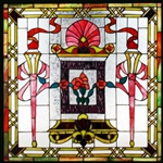 Stained window glass panel LTSP24-24∕108