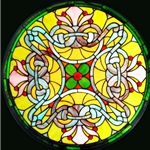 Stained window glass panel LTSP23D∕116