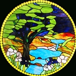 Stained window glass panel LTSP23D∕120