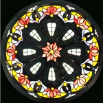 Stained window glass panel LTSP23D∕121