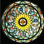 Stained window glass panel LTSP23D∕122