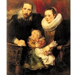 Family Portrait, Sir Anthony van Dyck, (1599-1641)