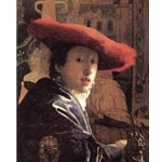 Girl with a Red Hat, 1668, Jan Vermeer