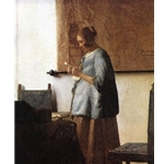 Woman in Blue Reading a Letter, 1663-64, Jan Vermeer