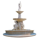 Marble Fountain with Sculpture-XF259