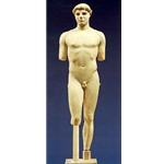 The Kritios Boy, a very beautiful marble statue of an ephebe athlete