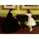 At The Piano, 1858-59,James Abbott McNeill Whistler