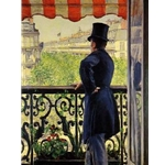 Man on a Balcony,Gustave Caillebotte, 1880