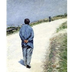 Man in a Smock or Father Magliore on the Road between Saint-Clair and Etretat Gustave