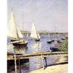 Sailboats in Argenteuil,Gustave Caillebotte, c. 1888