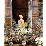 Camille at the window Claude Monet