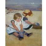 Children on the Beach , Mary Cassatt, 1884