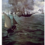 Battle of the Kearsarge and the Alabama, 1864, Edouard Manet