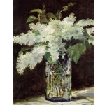 Lilacs in a Vase, c. 1882, Edouard Manet