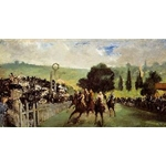 Races at Longchamp, c. 1867, Edouard Manet