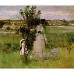 Cache-cache (Hide-and-Seek) , 1873, Berthe Morisot, French impressionist painter