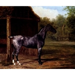 Lord Rivers' Roan mare In A Landscape