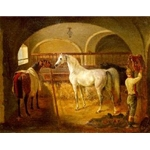 In the Stable. Jacques Laurent Agasse ,1767-1849