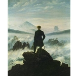 Wanderer above the Sea of Fog, 1818; Caspar David Friedrich