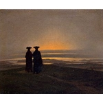 Sunset (brothers), Between 1830 and 1835, Caspar David Friedrich