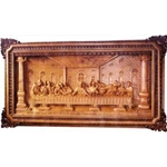 The Last Supper 3D Wood Carving Relief-C