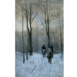 Anton Mauve Rider In The Snow