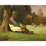 Seated Sheperdess Jean-Francois Millet