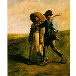 The Walk to Work Jean Francois Millet 1851