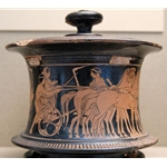 Marriage Procession Red-Figure Pyxis