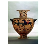 Etrusco Ionian Black Figure Hydria