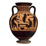Belly Amphora Two Handled Jar