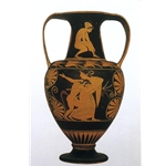 Nikosthenic Amphora Satyr with Maenad