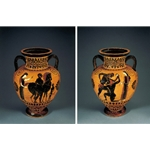 Neck Amphora Bearded Man Leading a Horse
