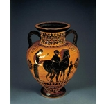Neck Amphora Bearded Man Leading a Horse 2